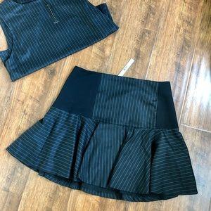 Alice & Olivia Pinstripe Skirt